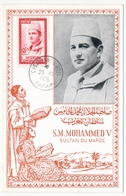 MAROC - Carte Maximum 50F S.M.Mohammed V - Casablanca Ppal 29/10/1956 - Morocco (1956-...)