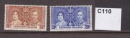 Leeward Islands 1937 Coronation 1½d And 2½d (MNH) - Leeward  Islands