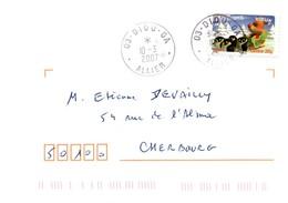 Diou 2007 Allier - Guichet Annexe - Marcophilie (Lettres)