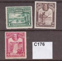British Guiana 1931 1c, 2c And 4c (MM) - British Guiana (...-1966)