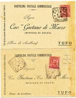 CASSINO CASERTA I 2 TIPI DI TONDO RIQUADRATI - Marcofilie