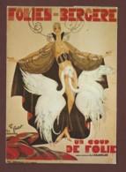LES FOLIES BERGERE PARIS - DANSE ET MAGIE  -CARTE ECRITE - Voir Detail Annonce - Cabaret