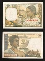 COMORES MADAGASCAR 100 FRANCS 1960/1963 PICK 3b Q.fds UNC- LOTTO 347 - Comore