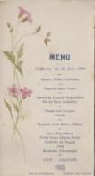Menus - Menu 20 Juin 1909 - Carte Peinte Aquarelle - Menus