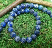 Perles En Lapis Lazuli Pour Collier Ou Bracelet, 6, 8 Et 10 Mm - Lapislázuli