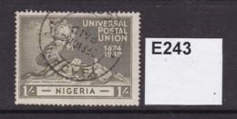Nigeria 1949 UPU 1/- - Nigeria (...-1960)
