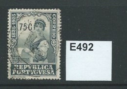 Portugal 1925 C. C. Branco Centenary. 75c - 1910 - ... Repubblica