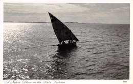 A NATIVE DHOW ON LAKE VICTORIA ~ AN OLD REAL PHOTO POSTCARD #2703 - Uganda