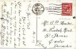 Dublin Vers Deronshire 1919 Sur Carte Postal. Voir 2 Scan - 1922 Provisional Government
