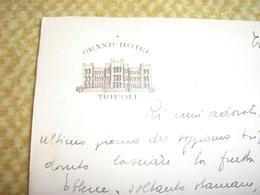 LETTERA SU CARTA INTESTATA GRAND HOTEL TRIPOLI 1939 - Italy