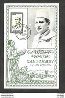 MAROC - Carte MAXIMUM 1956 - S. M. MOHAMMED V - Marocco (1956-...)