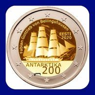 2 Euro Estland Estonia 2020 Discovery Antarctica Segelschiff Coin UNC FROM MINT ROLL - Estland