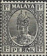 JAPANESE OCCUPATION OF MALAYA 1943 Sultan Iskandar Overprinted - 1c - Black MH - Grande-Bretagne (ex-colonies & Protectorats)
