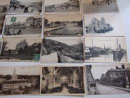 CALVADOS GROS LOT DE 250 CARTES POSTALES ANCIENNES SEMI MODERNES BELLE ANIMATION PEU DE LISIEUX ET CAEN QUELQUES DOUBLES - Cartes Postales