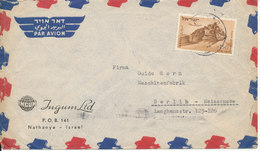Israel Air Mail Cover Sent To Germany Single Franked - Airmail