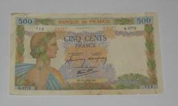 Billet 500 Francs La Paix 9 Avril 1942 Banque De France - 1871-1952 Anciens Francs Circulés Au XXème