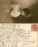 [75118]B/TB//-BELGIQUE 1920 - N° 168, 10c Casqué Seul Sur CP Photo, D'Esneux Vers Fort Sceravennvezel, Pli - 1919-1920 Trench Helmet