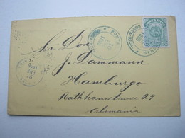 COSTA RICA , Brief 1896 Nach Hamburg - Costa Rica