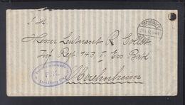Dt. Reich Feldpost 1917 Strassburg Zensur - Briefe U. Dokumente