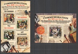 CA262 2015 CENTRAL AFRICA CENTRAFRICAINE ART PAINTINGS COMMEMORATION BECKMAN KB+BL MNH - Other