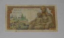 Billet 1000 Francs Déesse Déméter 1942 Banque De France - 1871-1952 Anciens Francs Circulés Au XXème