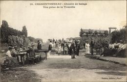 Cp Charentonneau Val De Marne, Chemin De Halage, Vue Prise De La Tourelle - Francia