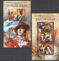 CA290 2015 CENTRAL AFRICA CENTRAFRICAINE FAMOUS PEOPLE 115 YEARS DEPARTURE OSCAR WILDE KB+BL MNH - Writers