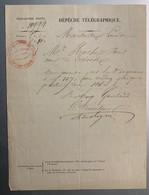 60304 - Télégraphie Privée Dépêche Télégraphique De Marseille à Paris - Vieux Papiers