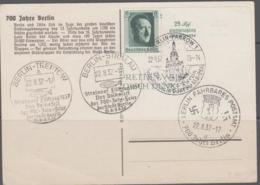 GERMNAY - 1937 - BERLIN CARD  WITH 4 DIFFERENT CANCELLATIONS - Germany
