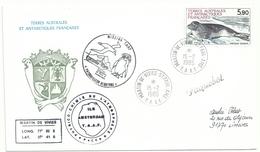 YT 107 Phoque Crabier - Posté à Bord D' L'Albatros - Martin De Viviès - St Paul Amsterdam - 15/02/1985 - Lettres & Documents