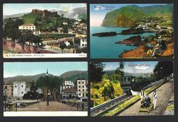 Conjunto De 4 Postais Antigos Da MADEIRA: Pico + Camara De Lobos + Funchal + Elevador Do Monte. SET 4 Postcards Portugal - Madeira
