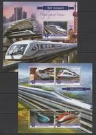 ML109 2015 MALDIVES RAIL TRAINSPORT HIGH SPEED TRAINS KB+BL MNH - Treinen