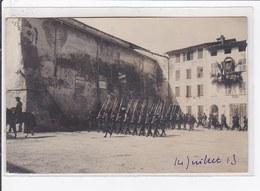 BELVEDERE : Carte Photo De La Revue Militaire Du 14 Juillet 1913 (chasseurs Alpins) - Très Bon état - Belvédère