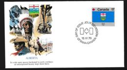 Canada FDC 1979 Flags - Alberta (G106-60) - Briefe