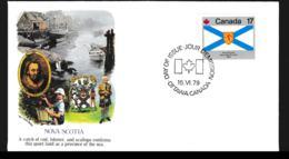 Canada FDC 1979 Flags - Nova Scotia (G106-60) - Briefe