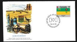 Canada FDC 1979 Flags - Saskatchewan (G106-60) - Briefe