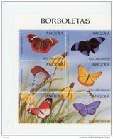 Angola 1998-Papillons-1174/9+B44***MNH - Angola