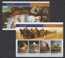 ML168 2015 MALDIVES ART PAINTINGS REALISM MID-19TH CENTURY KB+BL MNH - Other