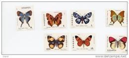 Angola--1982-Série Papillons*-652/8**MNH-valeur 14 Euro - Angola