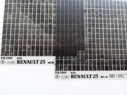 Microfiche Renault  25 B29 1989>1992  Pr1169 Lot De 2 - Visionneuses Stéréoscopiques