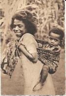 Missions Maristes D'Océanie - Nouvelle Calédonie: Grande Soeur Et Petit Frère Océaniens - Carte N° 6 Non Circulée - Missionen