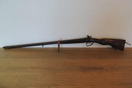 Rare Et Beau Fusil De Chasse,à Pistons Et à Restaurer Avec Son Tournevis - Armes Neutralisées
