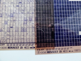 Microfiche Renault 21  K48A Etc 1987  Pr1177 Lot De 2 - Visionneuses Stéréoscopiques