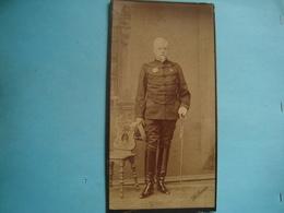Militaire - Photo Cartonnée 10cm X 19cm - Général Français En Russie - Photo H. Denier - Régiments
