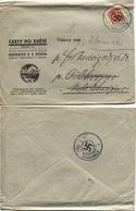 Sudeten Postamt Königswald Befreiungsstempel 20.10.38 Bücher-Drucksache,CSR #366 - Besetzungen 1938-45