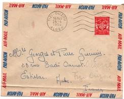 Tizi-Ouzou 1954 Alger  - Flamme Sur Timbre FM - Marcophilie (Lettres)