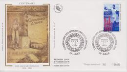 FDC FRANCE 1996 :  CENTENAIRE Des JEUX OLYMPIQUES 1896-1996 - Otros
