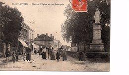 CPA Saint Vivien Du Médoc (Gironde) Place De L'Eglise Et Rue Principale - France