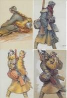 MILITARIA - 9 Cartes Postales Oeuvres De Guerre Camille Godet - War 1914-18