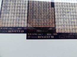 Microfiche Renault  19  B53-553 1989>  Pr1210  Lot De 2 - Stereoscoopen